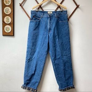 L.L. Bean Flannel Lined Relaxed Fit Jeans